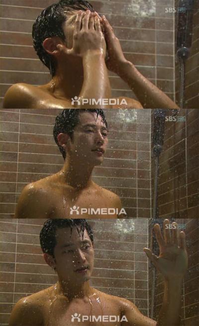 [깜짝포토] 초콜릿 몸매 박시후의 샤워신