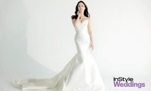 [T포토] 전혜빈, 순백의 웨딩화보 '봄의 여신'