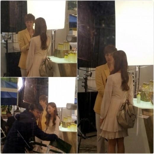 서현-김현중 '극강 미모' 비주얼 커플…광고 촬영 중?