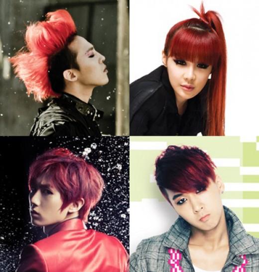 지드래곤 박봄 라비의 공통점? '빨간머리' 아이돌