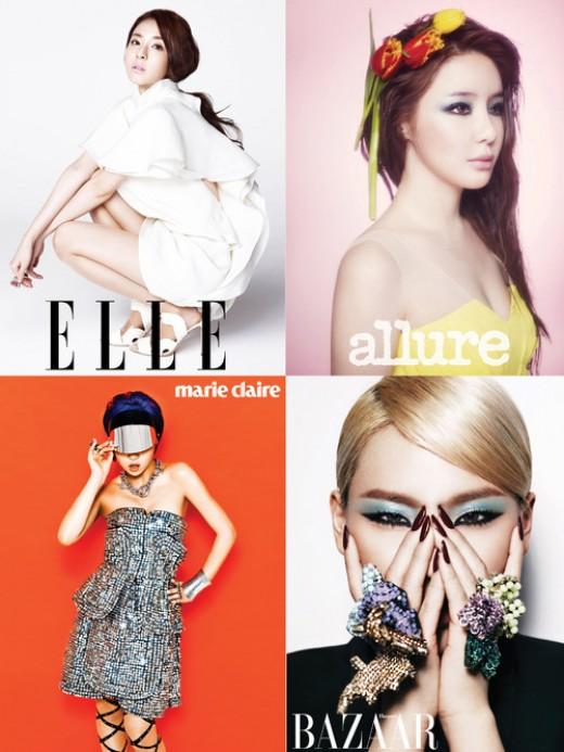 2NE1, 4人4色 매력…누가 제일 예쁘니?