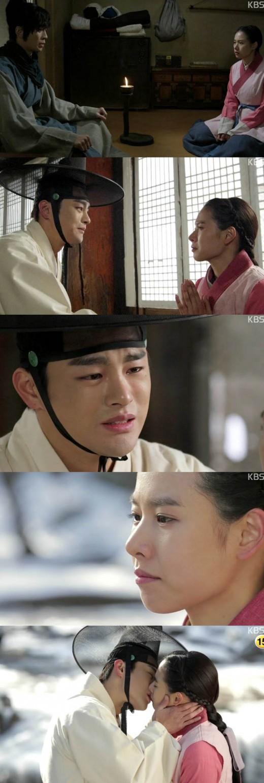 '왕의 얼굴' 사면초가 서인국, 조윤희와 이별의 키스