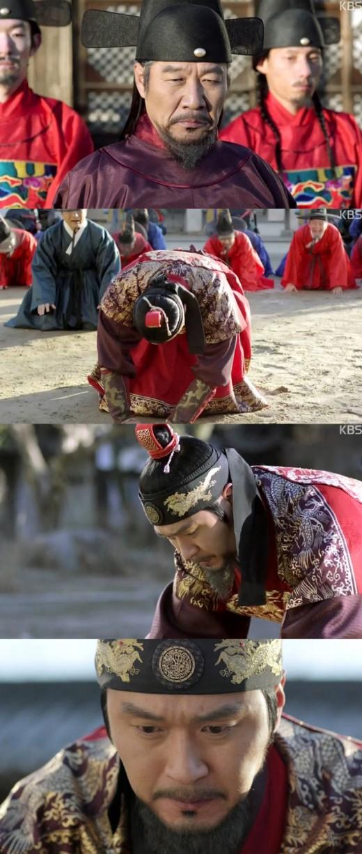 '왕의얼굴' 선조 이성재, 명나라 장수 앞에 무릎 꿇었다
