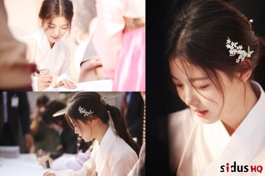 '단아함의 극치'…김유정, 꽃한복 비주얼 [화보]