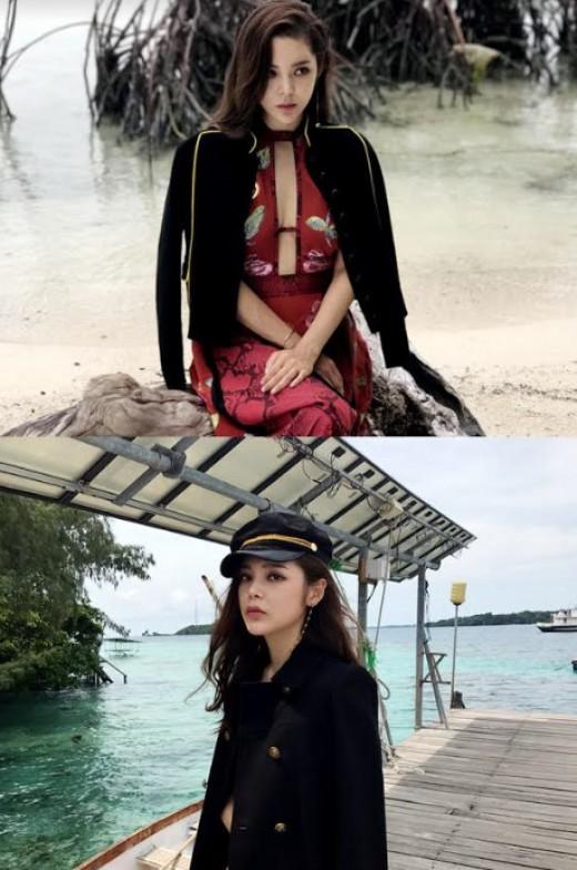 박시연, 가슴 라인 '파격' 해변 녹인 육감 몸매 [화보]