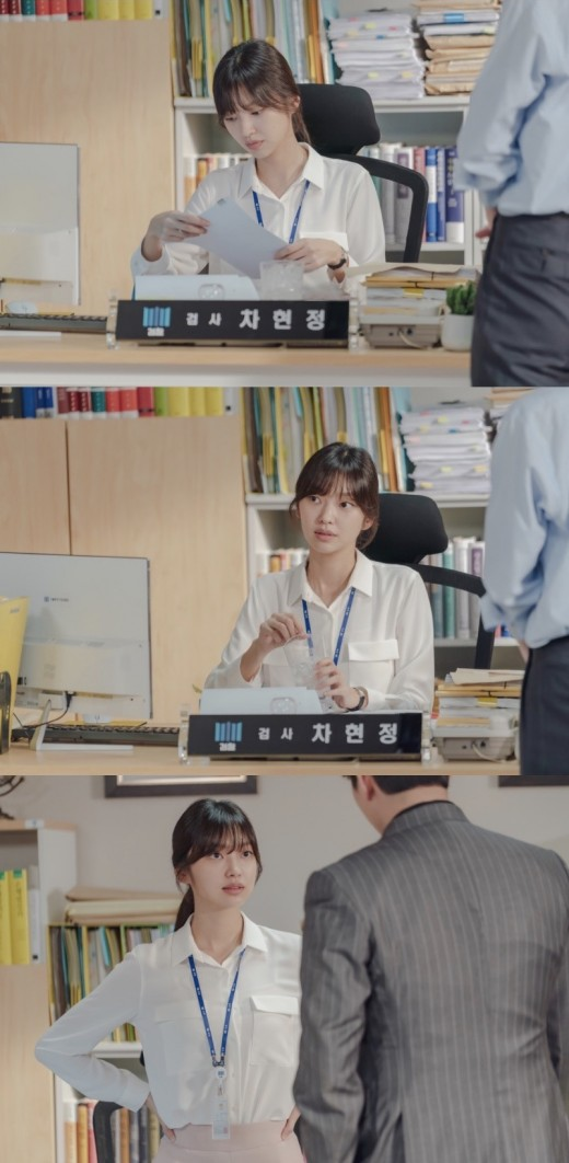 '미스터 기간제' 최유화, 에이스 검사 변신…비하인드컷 공개