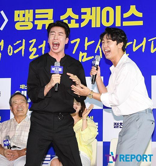 [T포토] 유수빈-배유람 '열정 폭발!'