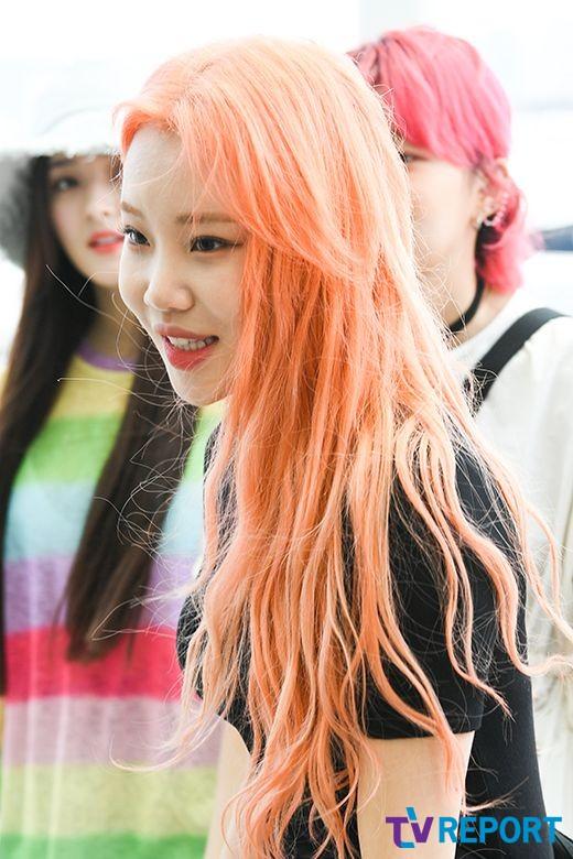 [T포토] 주이 '러블리 오렌지걸'