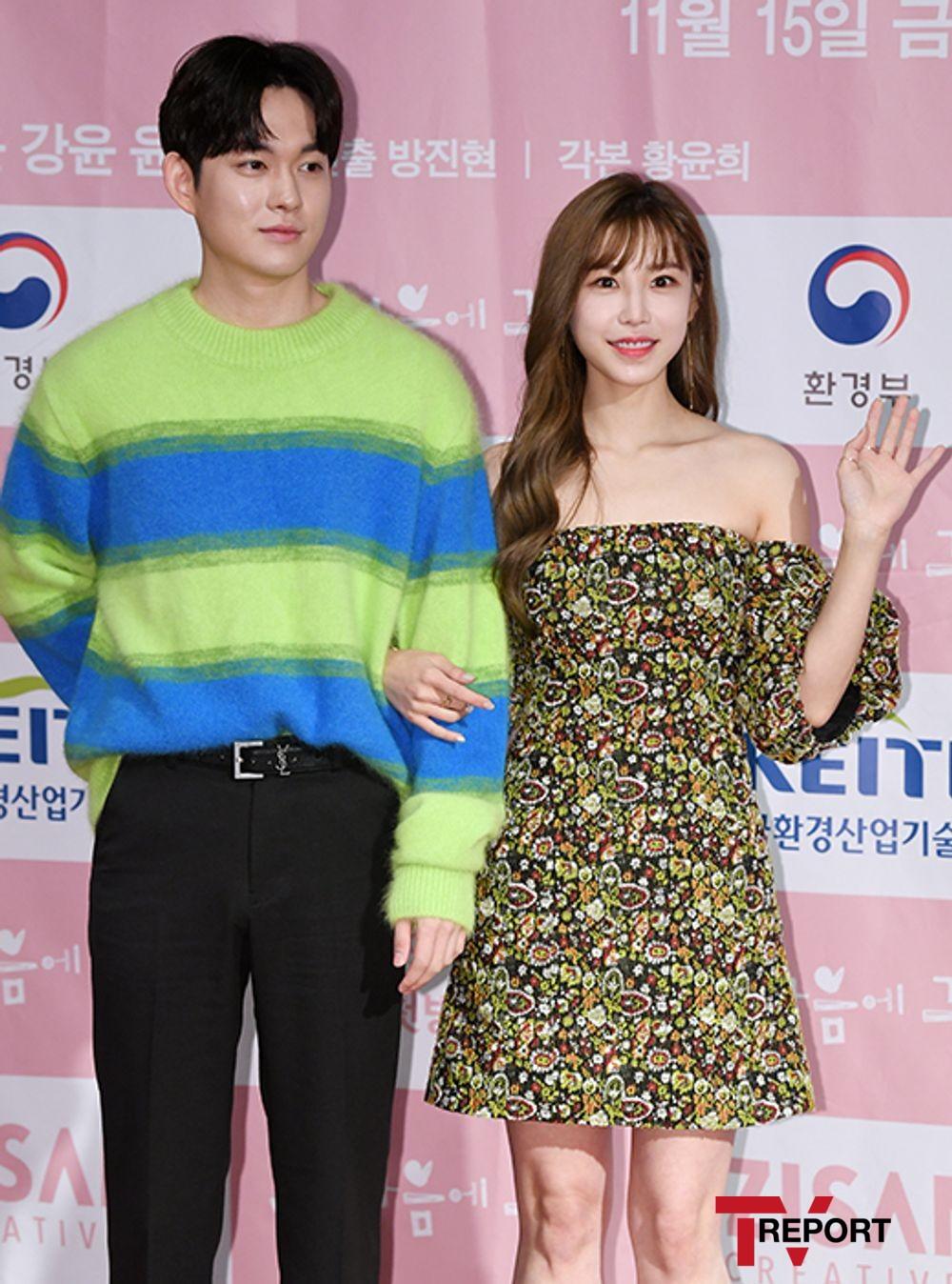 [T포토] 최규진-전효성 '다정한 팔짱'