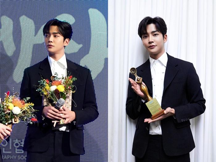 """로운, '2019 그리메 시상식' 신인상 수상 """"모두의 덕분, 감사"""""""