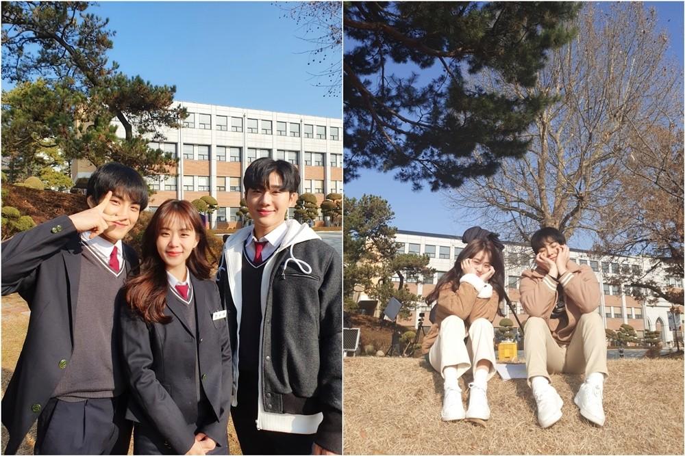'겨울방학' 박지원, 서성혁-조영인과 비하인드컷 공개 '상큼'