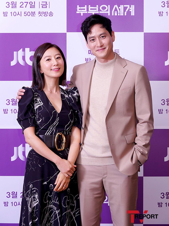 [T포토] 김희애-박해준 '다정한 부부'