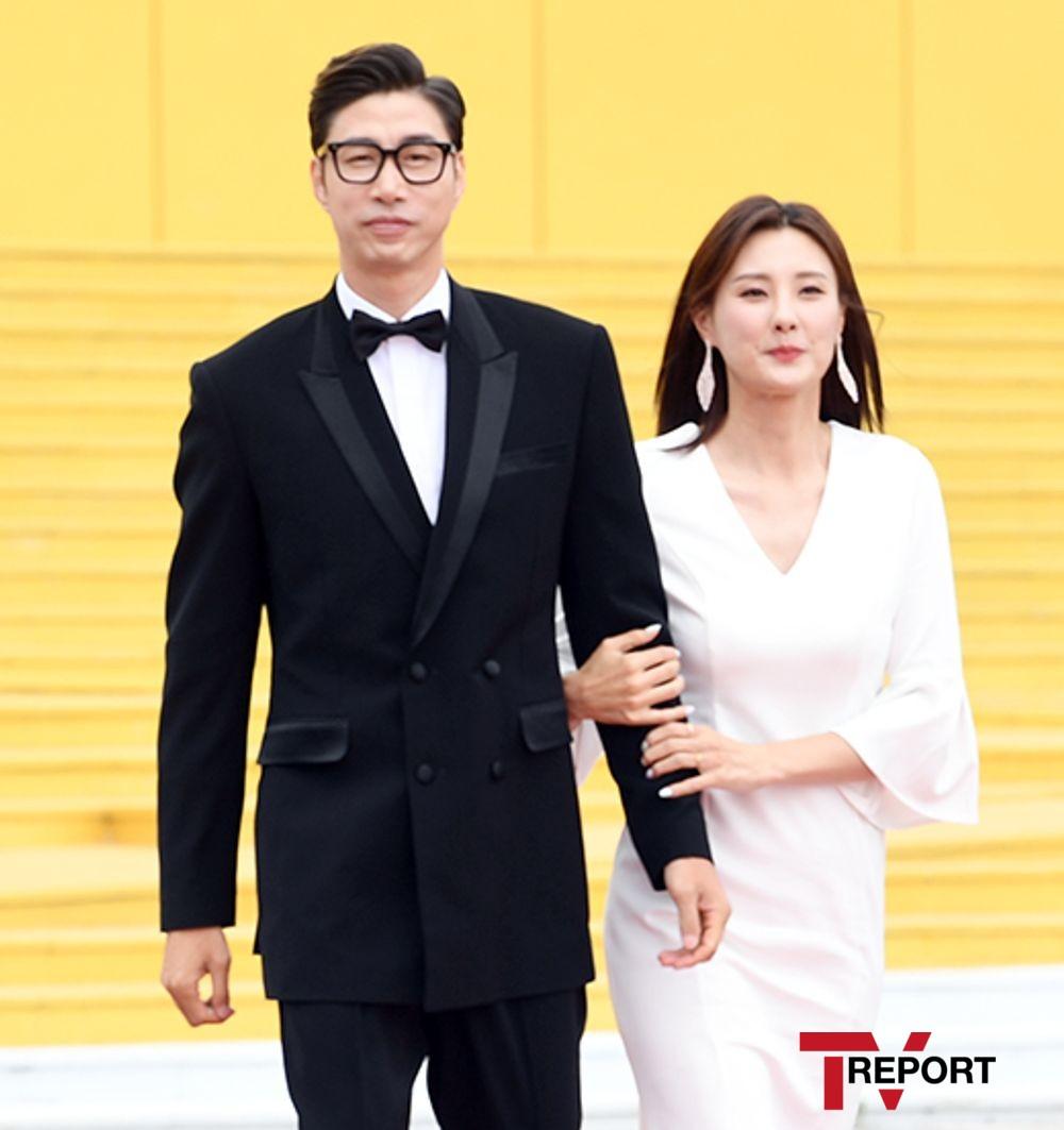 [T포토] 김세진-진혜지 '영화처럼'