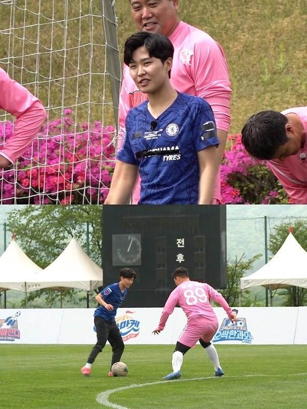 '뭉찬' 지소연, 워밍업→프리킥까지 유럽 선진 훈련법 大공개