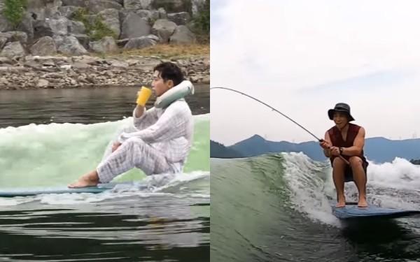"""CG 아니야?"" '미친 서핑 실력' 보여 난리난 유세윤 (영상)"