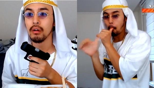"""""""꽈뚜룹+과로사?"""" 파키스탄인 콘셉트로 아프리카TV 찢어버린 신입 BJ"""