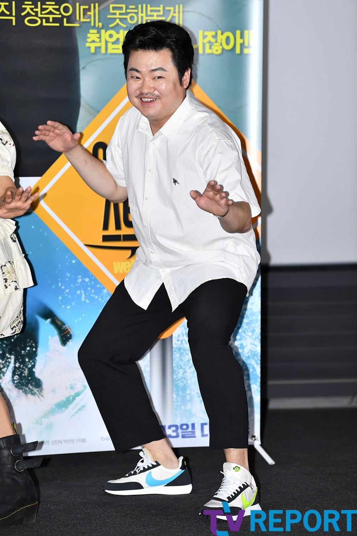[T포토] 신민재 '포토타임은 유쾌하게'