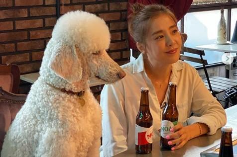 """'홍보요정' 박은혜, 푸들과 대화 시도 중?... """"눈부신 청순미"""" [리포트:컷]"""