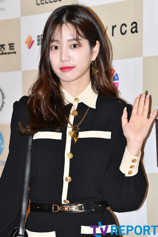 [T포토] 이유비 '매혹의 레드립'