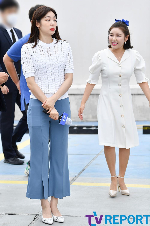 [T포토] 김연아-송가인 '설렘과 기쁨'