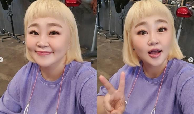 """홍윤화, 다이어트 후 물오른 미모로 BTS팬 인증 """"보라보라해"""""""
