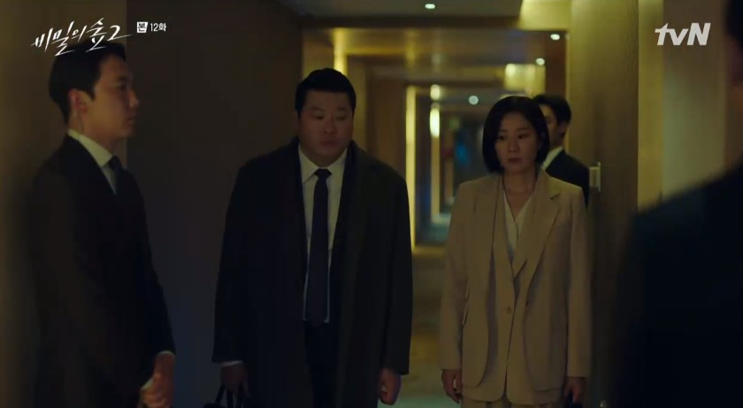 """'비밀의 숲' 최무성X전혜진, 윤세아 만났다 """"서진원 어떻게 했습니까?"""" 추궁[종합]"""
