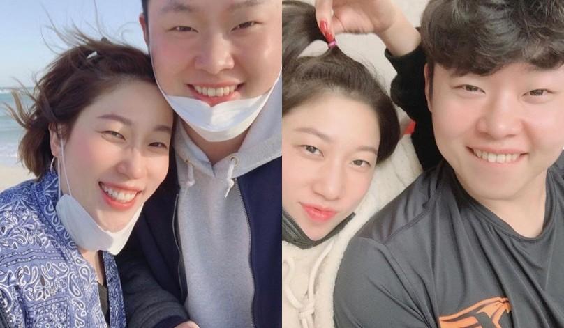 """'결혼발표' 김영희X윤승열 럽스타그램으로 뽐낸 찐애정 """"내가 많이 배운다"""" [전문]"""