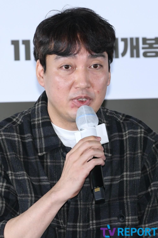 [T포토] 박정배 감독 '범죄 오락무비 기대하세요'