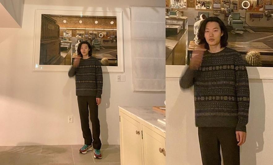 류준열, ♥혜리 반한 장발 남신…서 있기만 해도 그림이 되네 [리포트:컷]