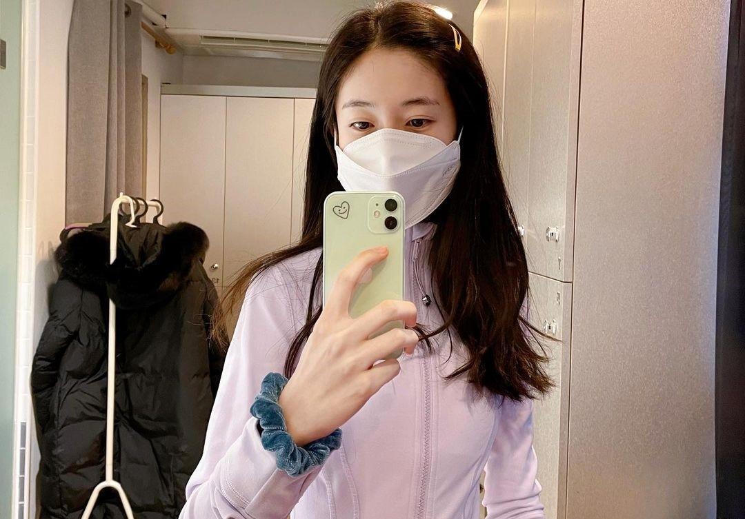 """백진희, 마스크 단단히 쓰고 3개월 만의 필라테스…♥윤현민도 """"좋아요"""""""