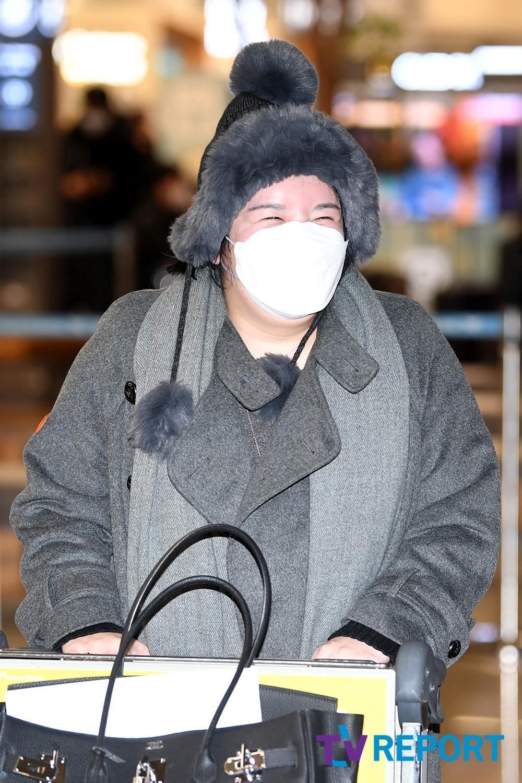 [T포토] 에이미 '입국금지기간 끝난 찐웃음'