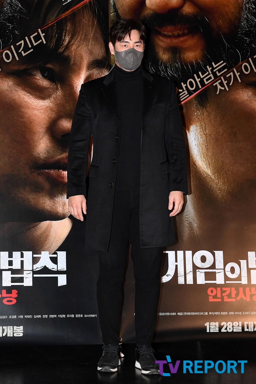 [T포토] 김성수 '훤칠한 블랙 패션'