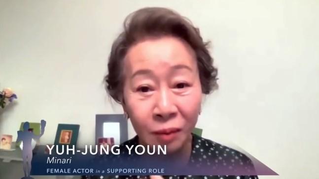 """""""영광·감사""""…윤여정, SAG 수상…오스카 '직진' [이슈 리포트]"""