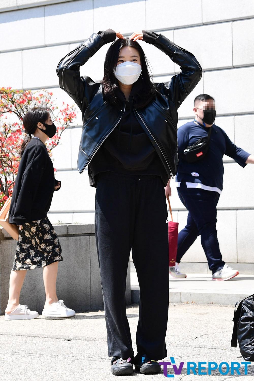 [T포토] 주아름 '대형 하트'