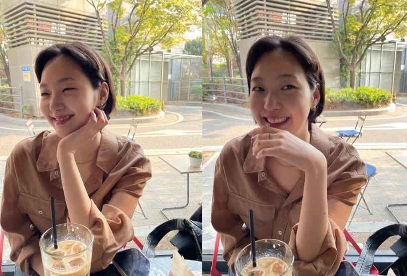 김고은, 봄의 요정 같은 싱그러운 미소[리포트:컷]