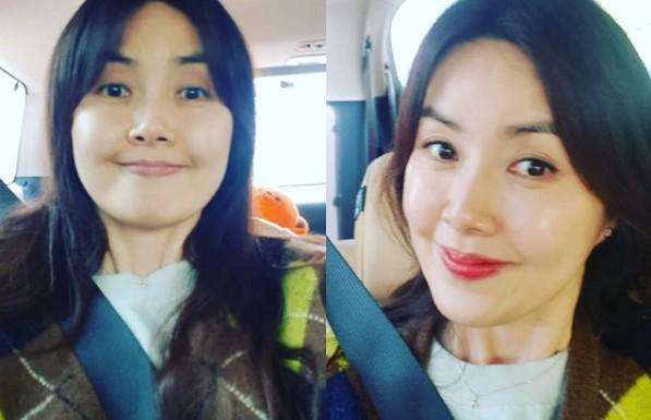 """신애라, 화장 전후 사진 공개 """"민낯도 예뻐"""" [리포트:컷]"""