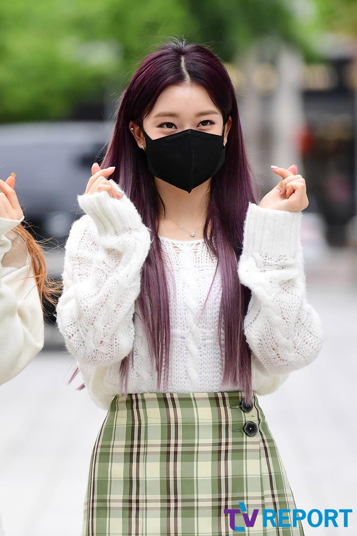 [T포토] 수민 '남심 저격하는 하트'