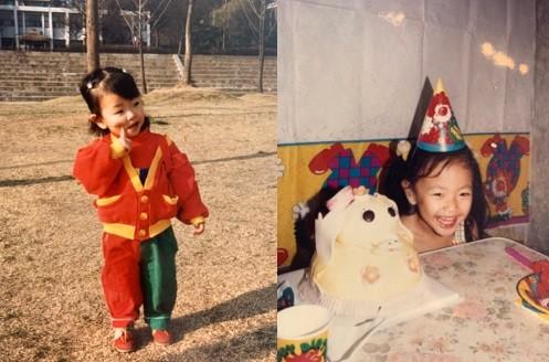 고원희, 어린 시절 사진 공개... 한결 같은 귀요미
