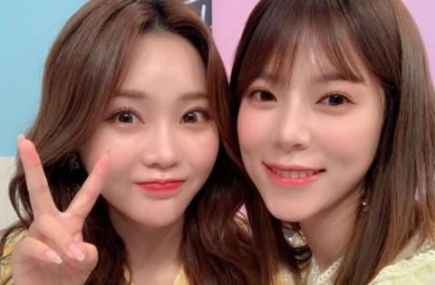 양지은X홍지윤, 트롯 여신들의 투샷 '예쁨 한도 초과' [리포트:컷]