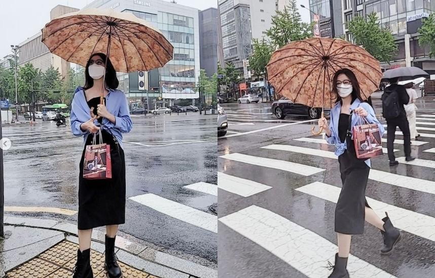 혜림, 비오는 거리도 접수 '이 구역 패셔니스타' [리포트:컷]