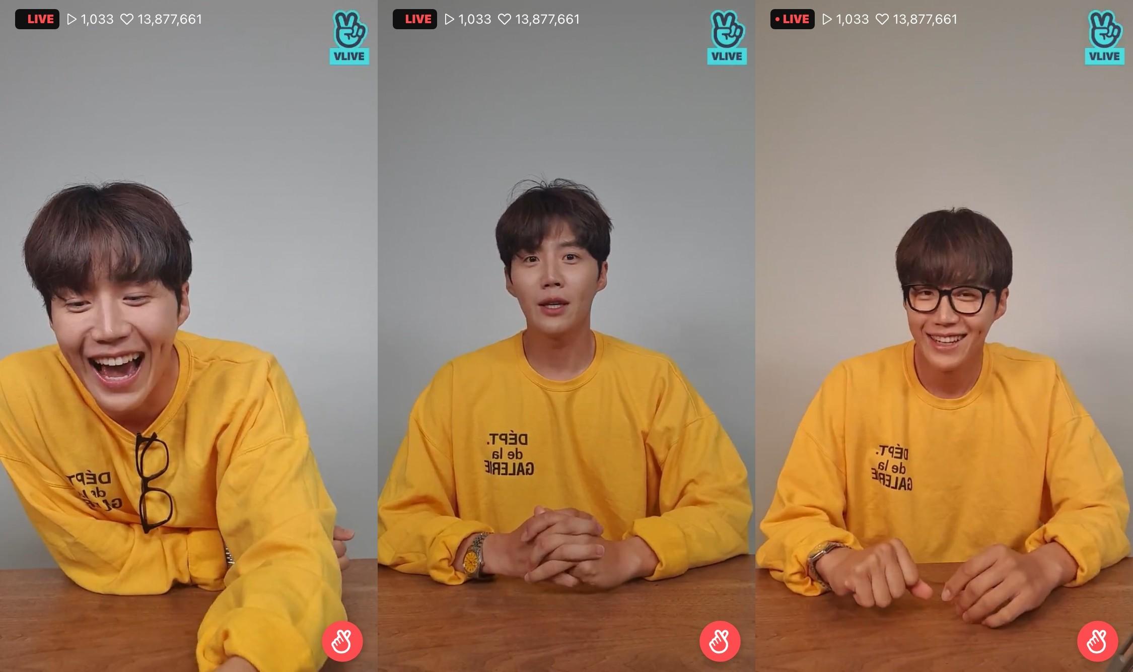 """김선호, 팬송 '너라는 이유' """"쑥스러웠지만 팬들 반응에 기뻤다"""" [V라이브]"""