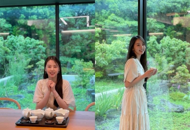 안소희, 반달 눈웃음+단아한 미모 '리즈 갱신' [리포트:컷]