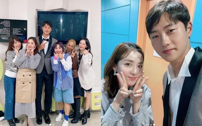 """산다라박, 오상욱 선수와 눈부신 비주얼 투샷 """"응원합니다"""" [리포트:컷]"""