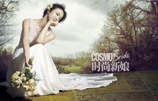 탕웨이 웨딩드레스 화보, 봄의 신부 된 '분위기 여신'