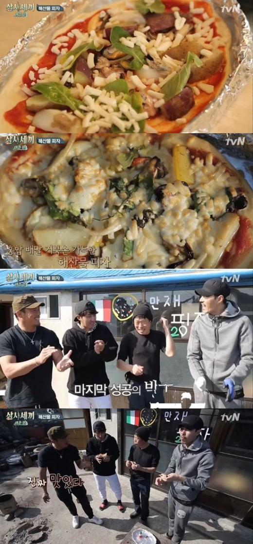 """'삼시세끼' 차승원, 초밥이어 해산물피자도 완벽…""""진짜 맛있어"""""""