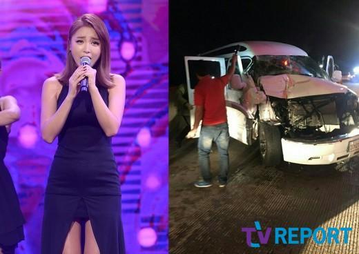 [단독] 홍진영, 9일 새벽 교통사고…'트럭 충돌, 부상자 無'