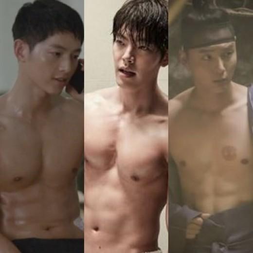 [리폿@스타] '식스팩의 후예들'…송중기X김우빈X윤시윤, 섹시복근 ★ 3