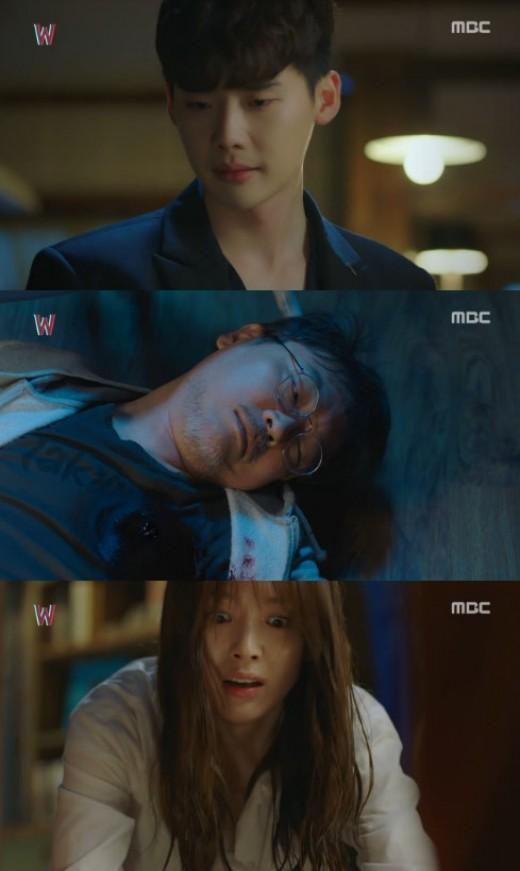 'W' 이종석, 김의성 총으로 쐈다…한효주 '충격'