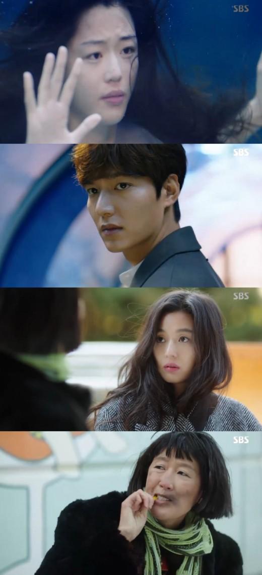 '푸른바다' 전지현♥이민호 서울서 눈물재회…기억 되찾나[종합]